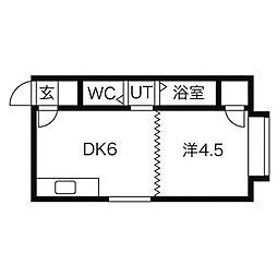 オプス澄川2・3[3階]の間取り