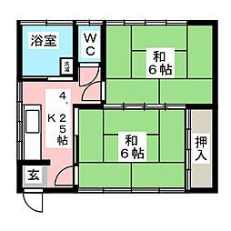 [一戸建] 宮城県名取市増田2丁目 の賃貸【/】の間取り