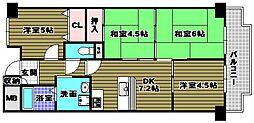 南花台アーバンコンフォート[4階]の間取り