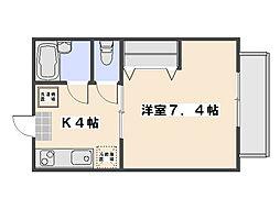 パルコ中央[1階]の間取り