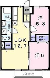 コーポ三輪[2階]の間取り