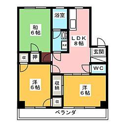 ピアン東山[4階]の間取り