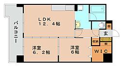 エスティーグリーン箱崎[5階]の間取り