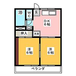 近藤ハイツ[2階]の間取り