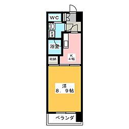 エクシード田町[13階]の間取り