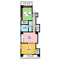 ファミール ITOH[4階]の間取り