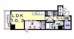 クレイン・レジデンス 1階1LDKの間取り