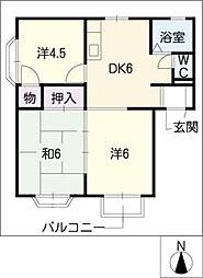 エクセルグリーン[2階]の間取り