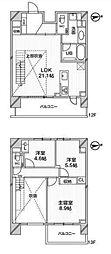 都営浅草線 高輪台駅 徒歩5分の賃貸マンション 12階3LDKの間取り