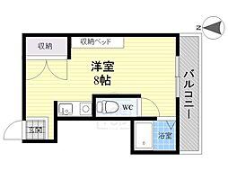愛知県稲沢市稲沢町北山の賃貸アパートの間取り