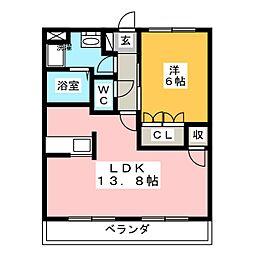 サンクエトワール[2階]の間取り