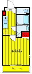 JR京浜東北・根岸線 王子駅 徒歩10分の賃貸マンション 4階1Kの間取り