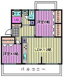 原田マンション[4階]の間取り