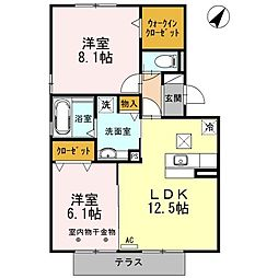 カプージョIII[1階]の間取り