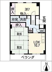 レジデンス永井[1階]の間取り