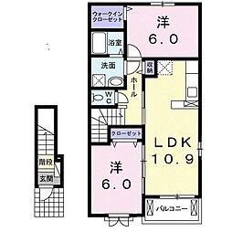 山口県下関市清末本町の賃貸アパートの間取り