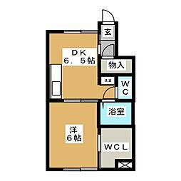 さくら館 A棟[1階]の間取り