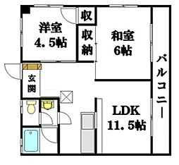 エクセル2[6階]の間取り