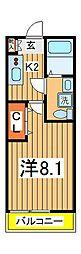千葉県柏市つくしが丘2の賃貸アパートの間取り