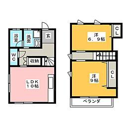 [テラスハウス] 愛知県稲沢市下津北山1丁目 の賃貸【/】の間取り