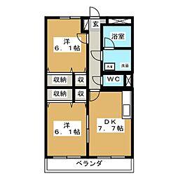 リーベカマイIII[3階]の間取り