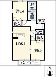 ガーデンハイムB棟[1階]の間取り