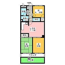 トーカンマンション御器所[1階]の間取り