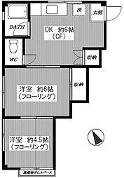 コーポアサカワ[3階]の間取り