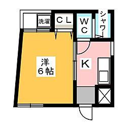 クレセント福原[2階]の間取り
