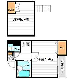 JR大阪環状線 京橋駅 徒歩7分の賃貸マンション 4階1Kの間取り