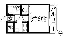 ツインオーク箕面[4階]の間取り