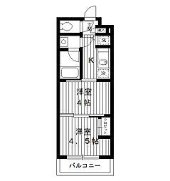 東京都練馬区氷川台3丁目の賃貸マンションの間取り
