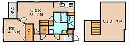 コンフォートベネフィスジオ博多東III[2階]の間取り