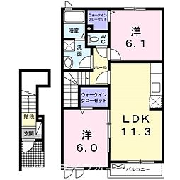 サンシャインT・I[2階]の間取り