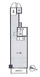 ペガサスステーションプラザ蒲田 bt[208kk号室]の間取り