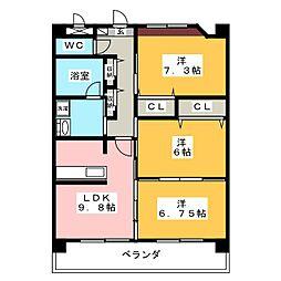 パストーンマンション[3階]の間取り