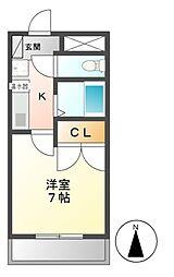 FLEX法華6番館[3階]の間取り