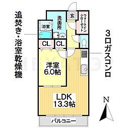 愛知県名古屋市南区要町5丁目の賃貸マンションの間取り