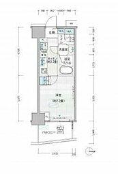 東京メトロ千代田線 新御茶ノ水駅 徒歩1分の賃貸マンション 11階1Kの間取り
