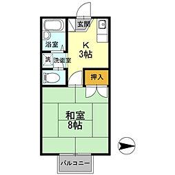 ワンズ18 A棟[207号室]の間取り