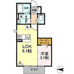 (仮)D―room鶴巻南[1階]の間取り
