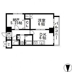 HERITAGE高井田(ヘリテイジ)[206号室号室]の間取り