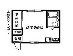 神奈川県横浜市南区大岡5丁目の賃貸アパートの間取り