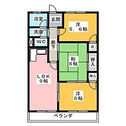 元良マンション[3階]の間取り