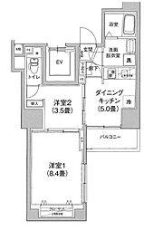 アイル プレミアム文京六義園 7階2DKの間取り