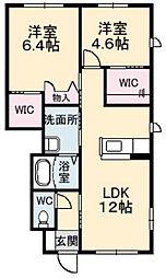 グランマスト郷[A103号室]の間取り