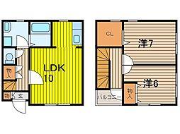 [テラスハウス] 埼玉県さいたま市中央区大戸1丁目 の賃貸【/】の間取り
