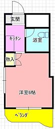 若江岩田駅徒歩11分 くろーば・菱江[203号室]の間取り