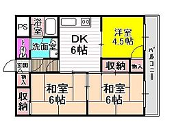 麻野ビル[4階]の間取り