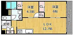 シャトータナカ[4階]の間取り